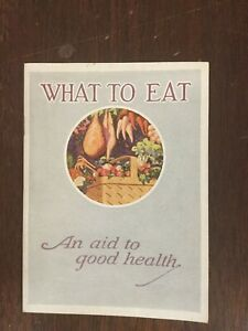 What To Eat And Aid To Good Health Prudential Insurance Vintage