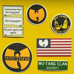 WU TANG CLAN Vinyl Hip Hop Sticker Set