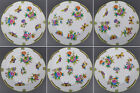 Brand New Set of Six Herend Queen Victoria Dinner Plates, 6 Pieces, 524/VBO