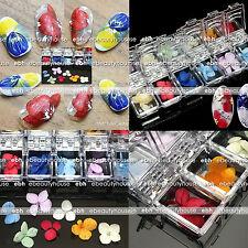 Colorful Dried Flowers Design 3D Nail Art Decoration Manicure #EB-121