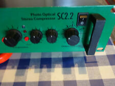 Classic Joe Meek SC2.2 v4 Stereo Compressor, with Dark Mode.