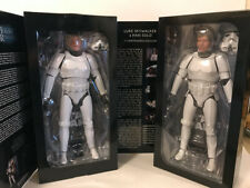 Mib Sideshow Sdcc Exclusive Luke Skywalker & Han Solo Stormtrooper 1:6 Figures