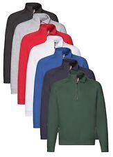 Fruit of the Loom Premium Egyptian Cotton Blend Zip Neck Collared Sweatshirt