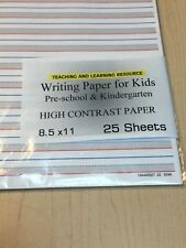 Writing Paper for Kids - High Contrast Paper - 11X 8.5 in, 20lb, 25 sheets