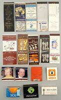 18 Vintage Foreign International Restaurant Matchbooks: Moulin Rouge, Playboy ++