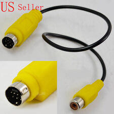 7 Pin S-video mini Din Male to RCA Female Cable adapter - Approx 30cm