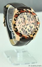 Free Ship USA Chic Ladies Watch GUESS Brown Leather Women New Prime Stylish