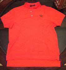 Ralph Lauren Purple Label Cotton & Cashmere Equestrian Polo Shirt Sz Medium