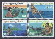 Papua New Guinea 1981 fishing SC 545-548