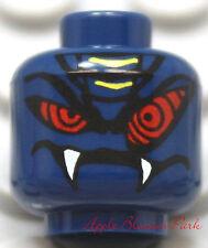 NEW Lego Blue Snake Monster MINIFIG HEAD -Halloween Alien Devil w/Fangs -Ninjago