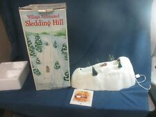 Department 56 Snow Village Animated Sledding Hill 52645 With Box