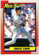 Dwight Evans Red Sox #375 Topps 1990 Baseball Card (C246)