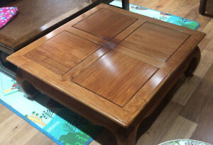 Solid Chinese Rosewood Vintage Coffee Table Oriental Furniture Huali Wood