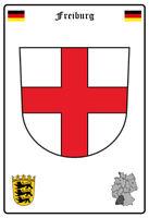 Freiburg Deutschland Wappen Blechschild Schild gewölbt Metal Tin Sign 20 x 30 cm
