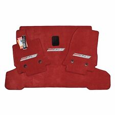 2015-2019 Chevrolet Corvette C7 Z06 Floor Mats & Cargo Mat - SPICE RED 32oz 2PLY