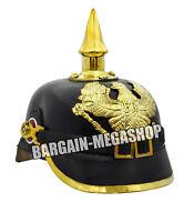 Deutsche Pickelhaube Helm WW1 WW2 Offizier Kostüm Preußische Leder Helm