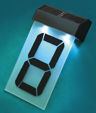 SOLAR POWERED STREET NUMBERS FOR HOUSE OR OFFICE single number black