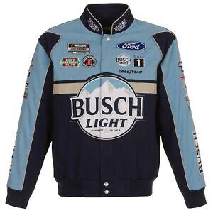 2021 Kevin Harvick JH Design Navy Blue Busch Light  Cotton Uniform Snap Jacket
