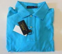 NWT Polo Ralph Lauren BLUE Mesh Knit Short Sleeve Polo Sz 3XB Big