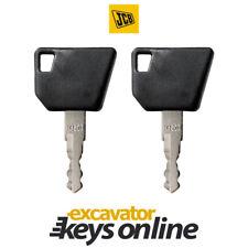 JCB Bomag (Set Of 2) Excavator Key 14607 Bomag, Wacker Nueson, Hamm, Grader