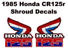 Tank decals for 1985 Honda CR125 Dirtbike    CR125r CR 125