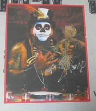 Papa Shango Signed 15x19 Event Used Banner Photo BAS Beckett COA WWE Autograph