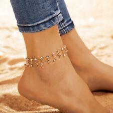 1Stück Gold Kette Fußkettchen Herz Armband Barfuß Sandale Strand Fuß Schmuck hv