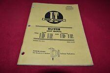 Oliver Super 1750 1850 1950 1950-T 1800A 1900B Tractor I&T Shop Manual SMPA