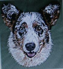 Cardigan Welsh Corgi Blue Dog Breed Bathroom Set Of 2 Hand Towels Embroidered