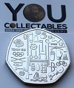 2020 Tokyo Olympic Games Team GB 50p Fifty Pence Coin Brilliant Uncirculated
