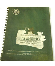 CLAUSING COLCHESTER INSTRUCTION & SPARE PARTS MANUAL  (W-4-BOX 9-2-RCT)