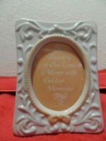 NEW - VINTAGE AVON TAPESTRY COLLECTION PORCELAIN PICTURE FRAME - 1981