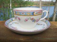 ANTIQUE / VINTAGE TEA CUP & SAUCER REGENT CHINA THOMAS MORRIS STAFFORDSHIRE
