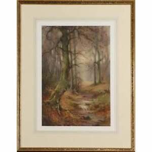 Signed Charles Warren Eaton Tonalist Watercolor Landscape