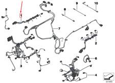 BMW 5 F10 Motore Iniettore Modulo Cablaggio 12518631982 Nuovo Originale