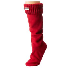 Hunter Women Original Tall Half Cardigan Boot Socks Red Size M B0725