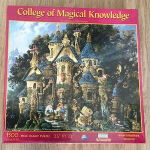 "Rare ""Art of James Christensen"" College of Magical Knowledge jigsaw 1500 piece"