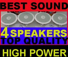 "(4-PACK)  TOP-OF-THE-LINE CEILING SPEAKERS - LARGEST 8"" (11"" INSTALLED) BEST SND"