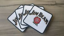 Set of 4 Jim Beam  pvc rubber Drink Coasters bar mat runner barmat