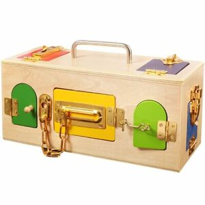 Montessori Practical Life Material Lock Box Kids Early Educational Toy Gift UK