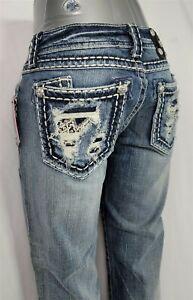 Miss Me Low Rise Buckle Stretch Women's Denim Capri Jeans 26 x 22 JE5152P10