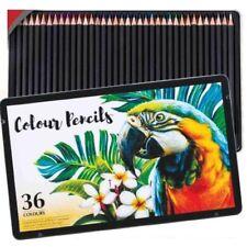 36 Professional Premium High Quality Colour Pencils Colouring Tin Sketching