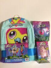 Hatchimals Hooded Towel + Jumbo Bath Bomb Surprise Charm + Color Twist Fizz