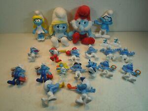 Vintage Smurfs Lot of 21, Papa Smurf, Smurfette plus more