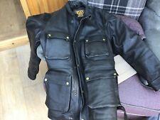 Motorcycle leather cruiser jacket