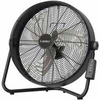 "Lasko 20"" High Velocity Fan with Remote Control Black"