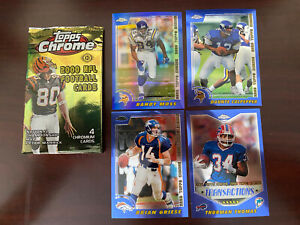 2000 TOPPS CHROME FOOTBALL CARD PACK POS ROOKIE Opened Moss Culpepper +++ mint