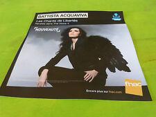 BATTISTA ACQUAVIVA - THE VOICE 4 !!!!!!!!PLV 30 X 30 CM !!!!!!!!