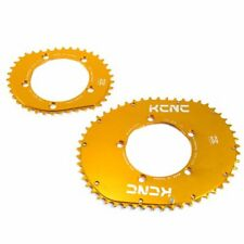 KCNC K5 Blade II Series Rectangular Chainring Set 53-39T, BCD 110mm , Gold