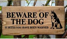 Beware Of The Guard Dog Sign Warning Security Sign It Bites You Been Warned